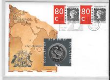 NETHERLANDS 1 ECU 1995 X#203 Dodo Bird, Numismatic Cover With Stamps. No3 B6