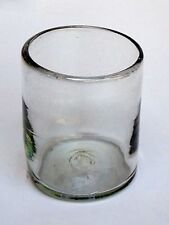 Mexican Glassware - Clear blown glass tumblers (set of 6)