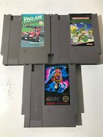 NES 3 Game Kit TMNT 1, RC PRO-AM & Winter Games By EPYX Authentic Nintendo