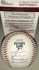 Taylor Trammell Padres Reds Signed 2018 Futures Game Baseball JSA Witness MVP A