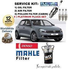 FÜR VW GOLF 2.0 TSi GTi MK6 2009->SET ÖL LUFT SERVICE POLLEN FILTER & STECKER