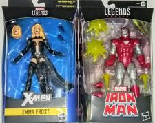 "WALGREENS EXCLUSIVE EMMA FROST AND IRON MAN Silver Centurion 6"" Marvel Legends"