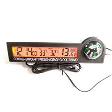 Digital Clock Display Indoor Outdoor Compass Car Thermometer Alert Car/Truck/RV