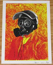 Piccola morte NYC artista PROVA STAMPA VAN GOGH-D FACE Hirst del cervello interesse