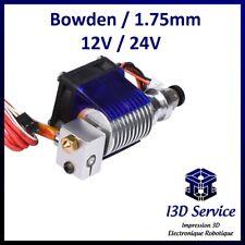 Tête d'extrusion V6 bowden pour filament 1,75mm 12V ou 24V - Compatible E3D V6