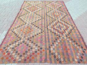 """Large Kelim, Turkish Kilim Rug, Area Rug Diningroom Rug Carpet Teppiche 76""""x120"""""""