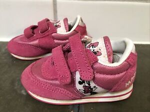 Toddler girls Mickey and Friends Footwear Minnie Mouse shoes size 3, pink