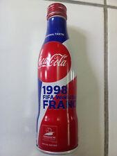 BOUTEILLE CANETTE COCA-COLA COUPE DU MONDE 1998 FRANCE COLLECTOR NEUVE VIDE
