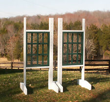 Horse Jumps Weave Wooden Wing Standards 6ft/Pair - Color Choice #223