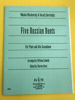 Five Russian Duets, for Flute and Alto Sax, Miaskovsky & Barvinsky