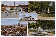 Ak Wiener Neustadt, Hauptplatz, Kaiser Josef Denkmal, Springbrunnen Stadtpark ..