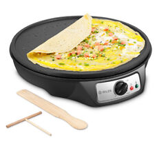 iSiLER Electric Crepe Maker Nonstick Pancakes Maker Griddle 12 inches Crepe Pan