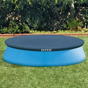 Intex 10 foot (3.05 m) Easy Set Swimming Pool Cover #28021. Round cover measures