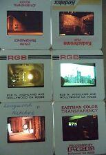 Lot of 6 Original Vintage 35mm Kodak Photo Color Slides Buildings Kodachrome