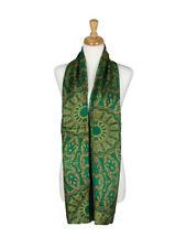 AamiraA Emerald Green Mulberry Chiffon Silk Stole Women Scarf Free Shipping
