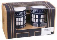 Doctor Who Tardis Salt & Pepper Shaker Cruet Set Official Merchandise NEW