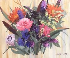 HOWARD LAYTE - Listed California Artist - Colorful Spring Flowers - Signed