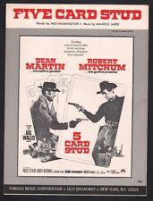 Five Card Stud 1968 Dean Martin Robert Mitchum Sheet Music