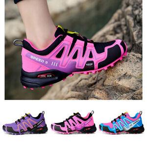 Outdoor Schuhe Damen Trekkingschuhe Wanderschuhe Freizeitschuhe Sneaker Sport DE