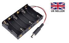Titular de la batería de 6AA, 6 X 1.5 V (9 voltios) con 2.1 mm Dc Jack