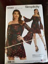 Simplicity Pattern Cynthia Rowley Dress D0981 Woman's Sizes 4-12