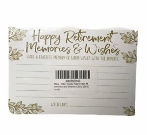 M&H Invites Retirement Memories And Wishes Cards (50 Count) NEW & SEALED