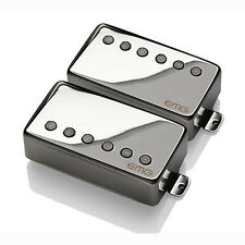 EMG James Hetfield Humbucker Pickup Set Long Shaft Gibson Les Paul Chrome +Picks