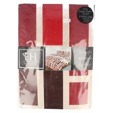 Eleganz Häuser King Size Bettwäsche Set rot und braun Streifen