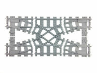 Lego train track - Lego 7996 double crossover custom made 3d printed
