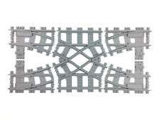 Lego train track MODULAR Lego 7996 double crossover custom made 3d printed