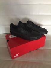 Puma G Vilas Black Leather Men's 8.5 Athletic Casual Dress Sneakers 352758 02