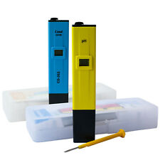 Cultivalley PH & EC Wert Messgerät Tester Digital für zb Auqarien, Wasser, Grow