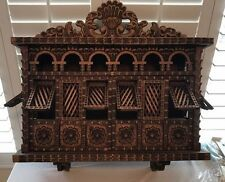 Unique Hand Carved Hanging Cabinet Replica Of Spanish Monastery BalcÓN