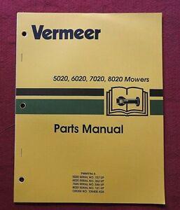 ORIGINAL VERMEER 5020 6020 7020 8020 MOWER PARTS CATALOG MANUAL VERY NICE