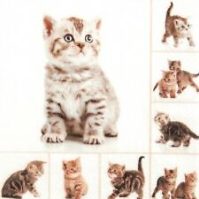 4 x paper napkins for decoupage, crafts, scrapbooks - Meow