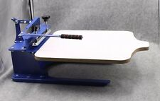1 Color Screen Printing Press Tilting Printer Adjustable Handle Slant pallet