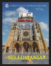 2018 LEON  12 MONTHS 12 STAMPS ** MNH SPAIN CATEDRAL DE LEON HB SHEET    TC20953