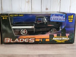 Ertl American Muscle Blades 1957 Chevy Cameo Pickup Truck 1:18 Scale Diecast