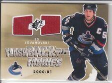 2011-12 SPx #217 Ed Jovanovski Flashback Fabrics Jersey case card 1:1,146 packs