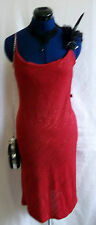 sexy Red/gold glitter stripe stretchy party dress,lace-up backless.size12/1size