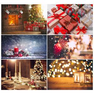 Christmas Tree Gift Background Photography Photo Backdrop Vinyl Studio Prop