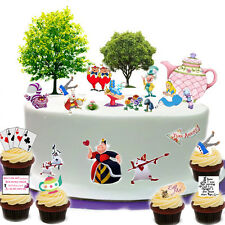 Alice in Wonderland Tea Party cake scène Comestible Premium Gaufre Papier cake topper