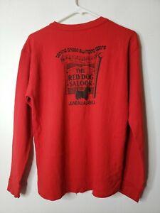 Double Layer Vintage Men's Shirt Size Large Red Red Dog Saloon Juneau Alaska