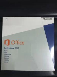 Sealed! Microsoft Office 2013 Professional 32/64-Bit DVD Retail Version New