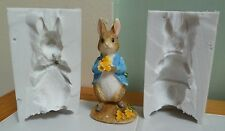 3D PETER RABBIT SILICONE MOULD FOR CAKE TOPPER, CHOCOLATE, CLAY ETC