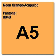 80 gsm A5 Coloraction printer & photocopier paper 500 sheet NEON ORANGE ACAPULCO