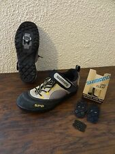 Shimano SPD SHM 037W men size 6 Black Brown Mountain Cycling Bicycle Shoe Cleat