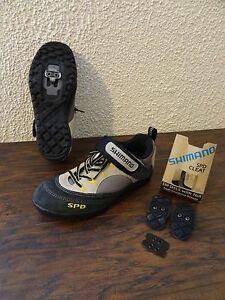 Shimano SPD SHM 037W men size 6 Black Brown Mountain Cycling Bicycle Shoe Cleat