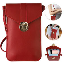 Women Touch Screen Crossbody Cell Phone Bag Wallet Pouch Purse Shoulder Case Red