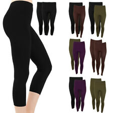 f576d6e884345 DBFL Fabric & Fabric Ladies 2 pack leggings 3/4 Yoga Fitness